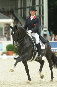 Carl Hester at The Europeans photo Kevin Sparrow