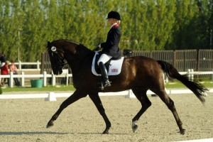 Sophie Wells competing for Gold in Moorsele Photo by Kevin Sparrow 300x200 - Emma & Sophie are British para-equestrian dressage golden girls at European Championships