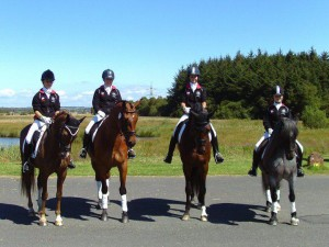 The Northern Aries Team LtoR Alex Alice Sarah and Emma 300x225 - Part-Bred Cleveland Bay Represents England at BYRDS Home International 2011