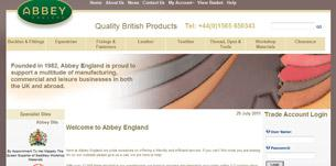abbey site - Abbey England Launch New Website