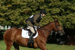 3rd placed South Notts' team member Fenella Selby on Princess B