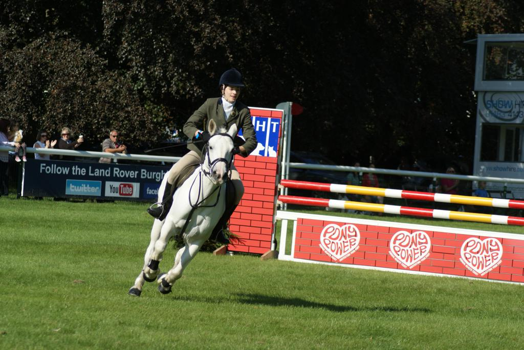 Camilla Hancox on Carraroe Jess for the 3rd placed South Notts - Pony Club teams enjoy a brilliant Burghley