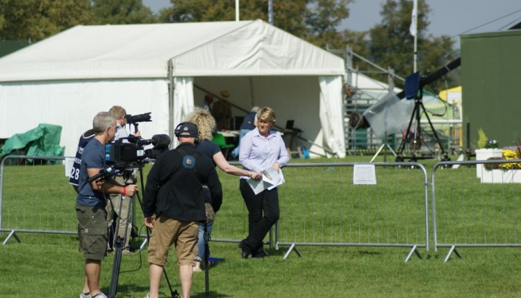 Clare Balding commentator for the TV 750x429 - Pony Club teams enjoy a brilliant Burghley