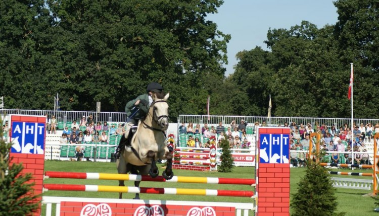 Diana Bevan on A Touch of Spice Burghley PC 750x429 - Pony Club teams enjoy a brilliant Burghley