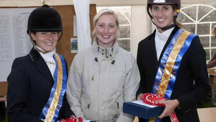 Left to right Michelle Lawrence EquestrianClearance.com Marketing Manager Katie Farmer Kate Mould 750x426 - Michelle and Kate Win EquestrianClearance.com BE80(T) British Riding Clubs Championship
