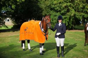 Lucy Pincus dominated at The Sheepgate Championships, pictured here with her stunning Schockemohle Sports rug