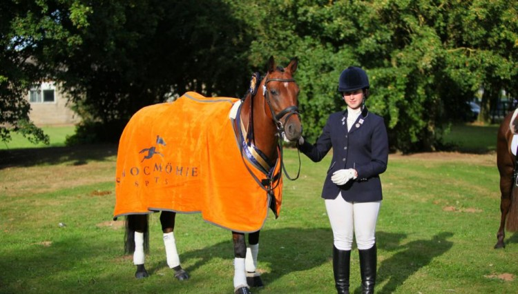 Lucy Pincus dominated at The Sheepgate Championships pictured here with her stunning Schockemohle Sports rug 750x426 - Sheepgate Equestrian team run the Under-25s