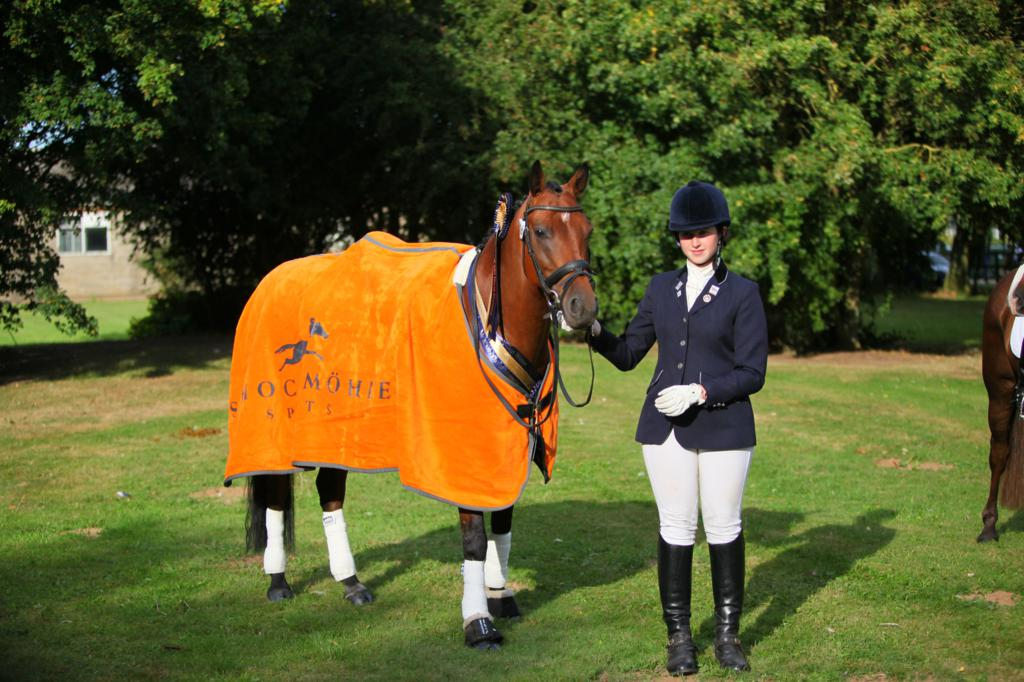 Lucy Pincus dominated at The Sheepgate Championships pictured here with her stunning Schockemohle Sports rug - Sheepgate Equestrian team run the Under-25s