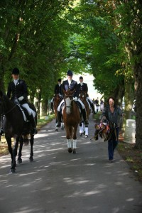 The prize giving procession on their way to receive their prizes