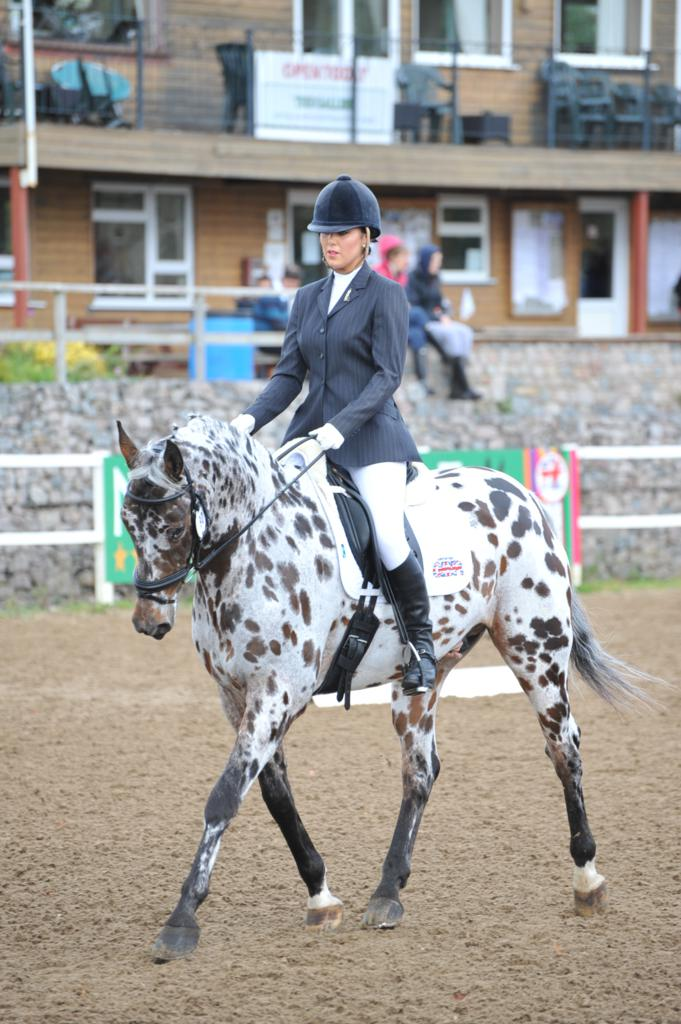 Esther Paul and Leo - It's a close call at the Cricklands' Dressage Championships of Great Britain