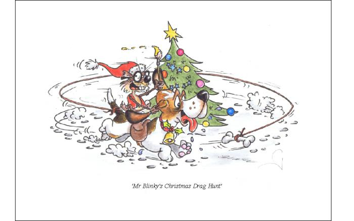 2011 christmas card 3 low res - Tally Ho, Pip pip, and View Hallooo to all our foxy countryside friends!!