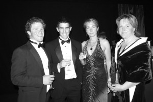 International Polo players Michael and Hannah Henderson with Fraser Potter and Sarah Gilbard