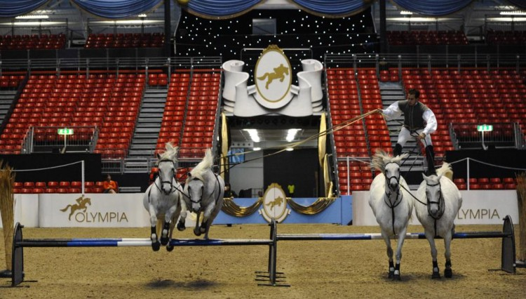 Lorenzo 6 750x426 - LORENZO THE FLYING FRENCHMAN OPENS   OLYMPIA, THE LONDON INTERNATIONAL HORSE SHOW 2011