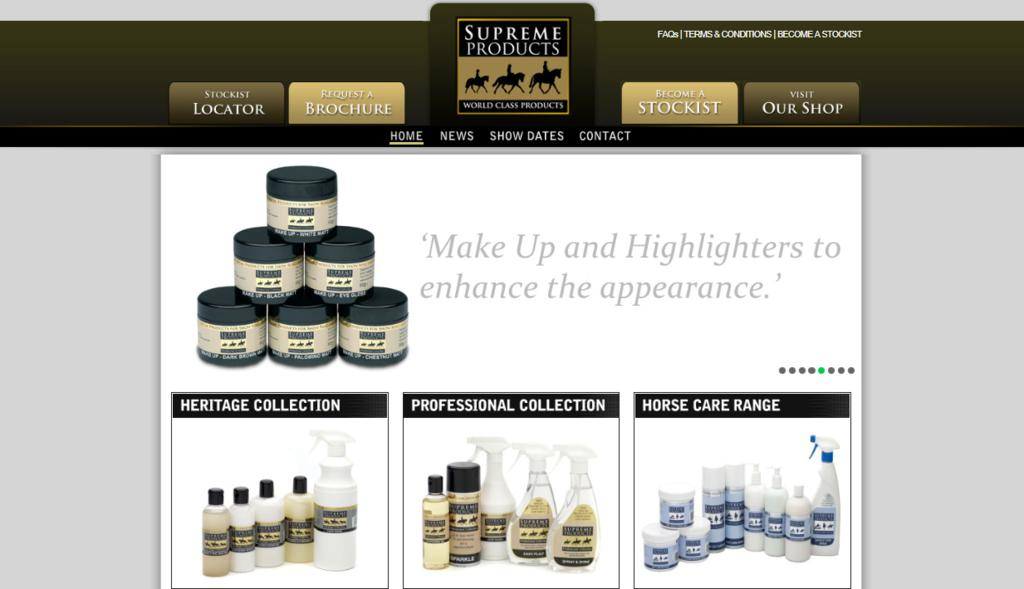 New Website Dec11 - Great Offers To Celebrate New Supreme Products Website!