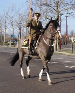 Monty Jerry at Cineworld 243x300 - Visitors to Cineworld meet a real 'War Horse' and his rider