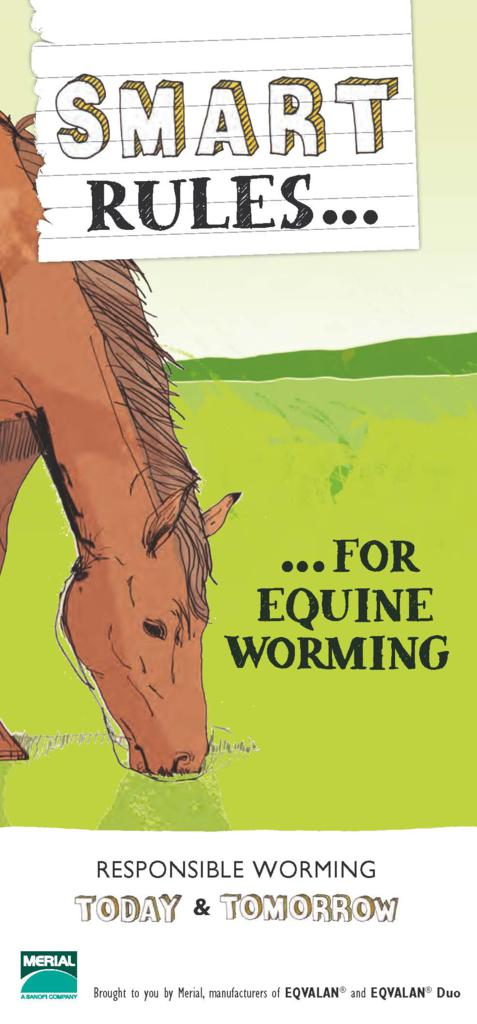 New SMART leaflet - EQVALAN's New Leaflet Helps Simplify Worming