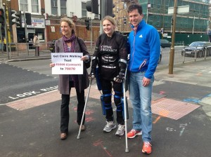 Claire Lomas and the Henmans