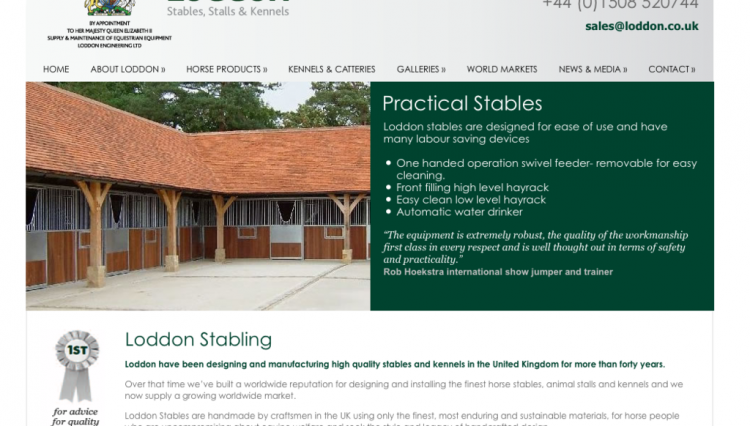 Loddon Screen Shot 2012 750x426 - Loddon Stables Launches New Website