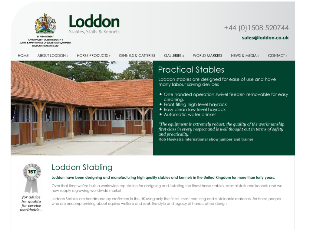 Loddon Screen Shot 2012 - Loddon Stables Launches New Website