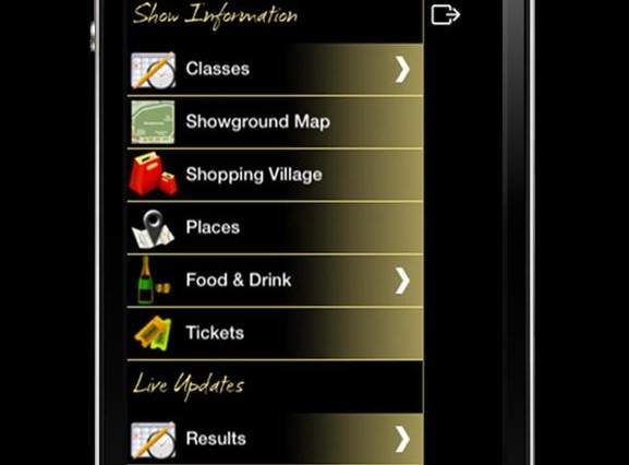 iphone app 2 Hickstead 2012 577x426 - Hickstead's App is back – and it's bigger and better than before!