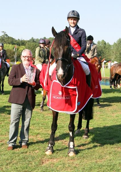 Millie Singleton c Julian Portch - Hurstpierpoint College student  takes top prize at Hickstead
