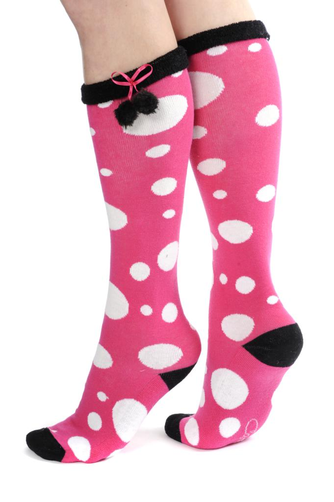 Pink Pom Pom socks - Spot the difference this season!