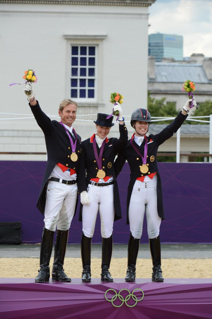 Team GB Carl Hester and Charlotte with Laura B - Double GB gold medallist Charlotte Dujardin joins Team champion Carl Hester in Spanish Riding School's 2012 UK tour