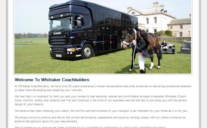 Whittaker New Website 692x426 - Exciting New Website for Whittaker Coachbuilders