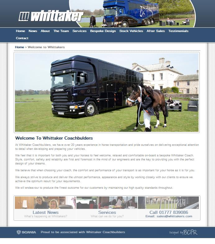 Whittaker New Website - Exciting New Website for Whittaker Coachbuilders