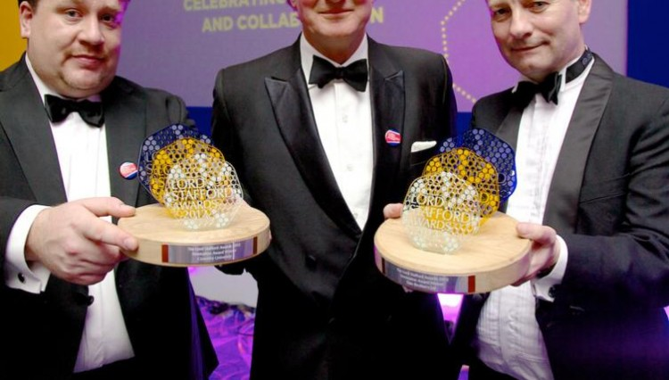 LSA Dr Stephen Coupe Lord Stafford Peter Wilkes 750x426 - KBF99 Win Top Prize at Prestigious Lord Stafford Awards Dinner