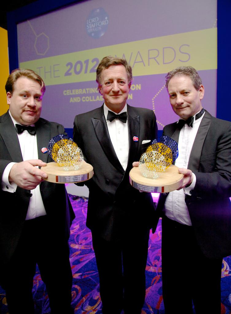 LSA Dr Stephen Coupe Lord Stafford Peter Wilkes - KBF99 Win Top Prize at Prestigious Lord Stafford Awards Dinner