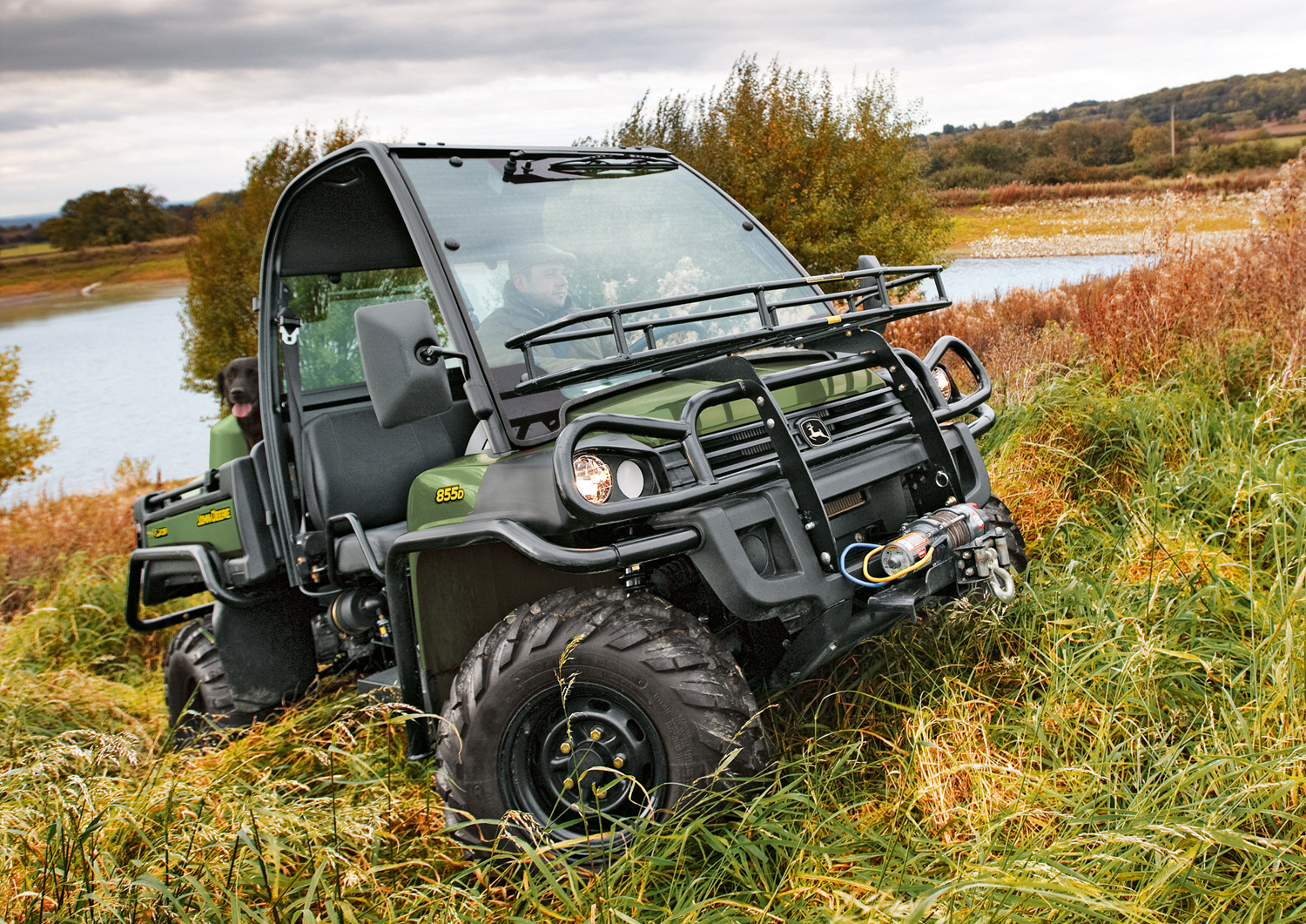 John Deere XUV 855D Gator with new power steering - Gator features new power steering