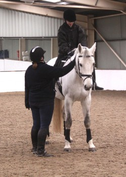 Sarah Healing with Michael Murphy at Penniwells e1357746001913 - Fit, Healthy Horses at Penniwells RDA