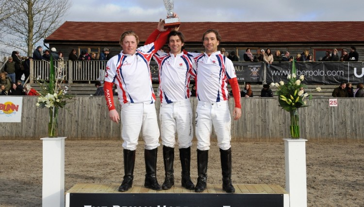 England winning team 750x426 - England retains Bryan Morrison trophy in Hickstead's International Arena Polo Test Match