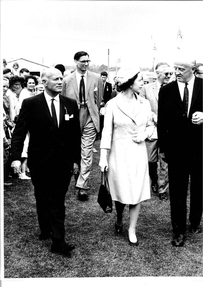 HM the Queens visit to the Three Counties Show in 1968 - Royal Recognition for Historic Show