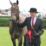 Mr Drabble with the yearling hunter winner