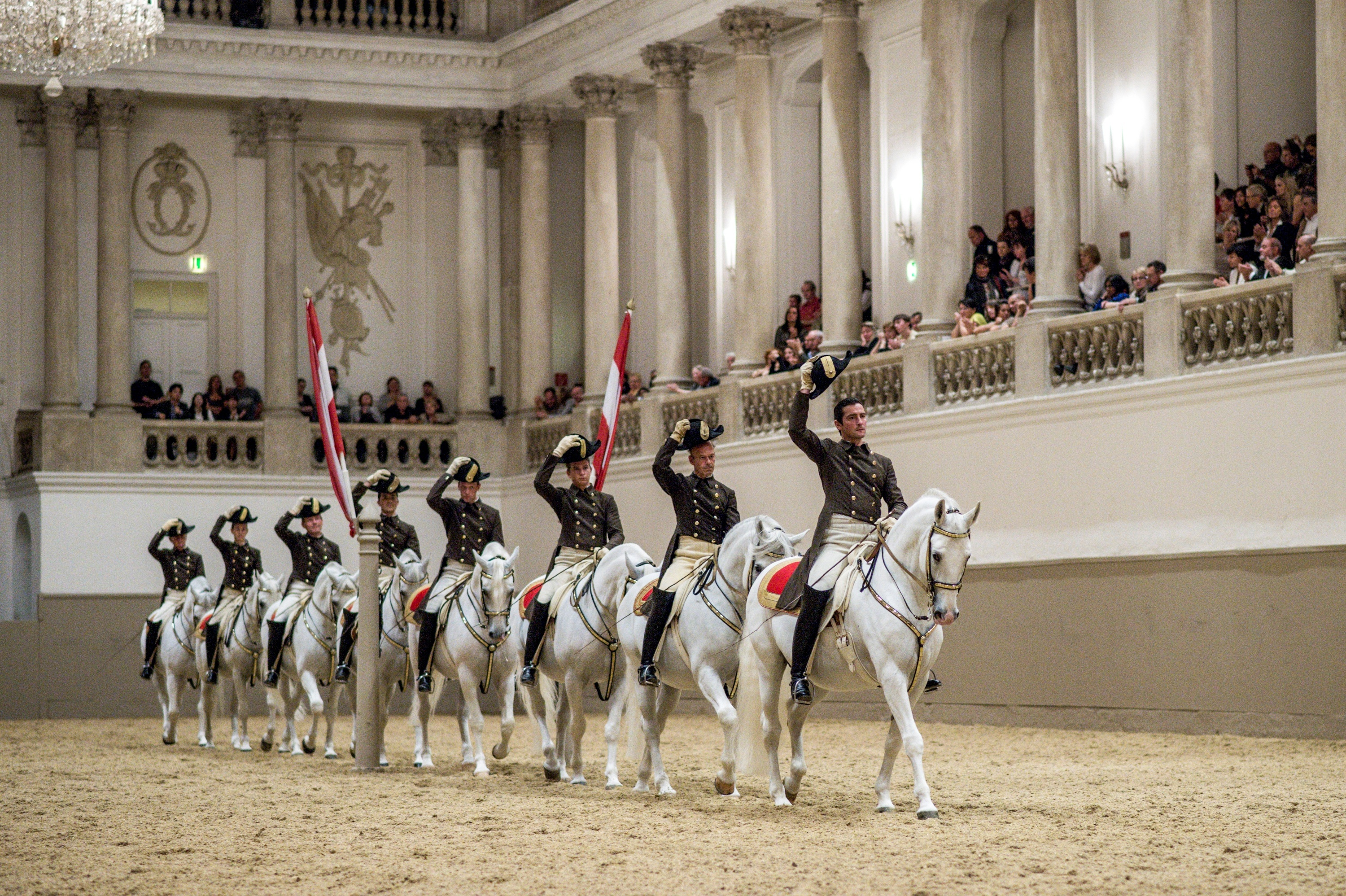 School Quadrille c Spanish Riding School ASAblanca.com Ren+R van Bakel1 - The Spanish Riding School of Vienna announce 2014 UK tour