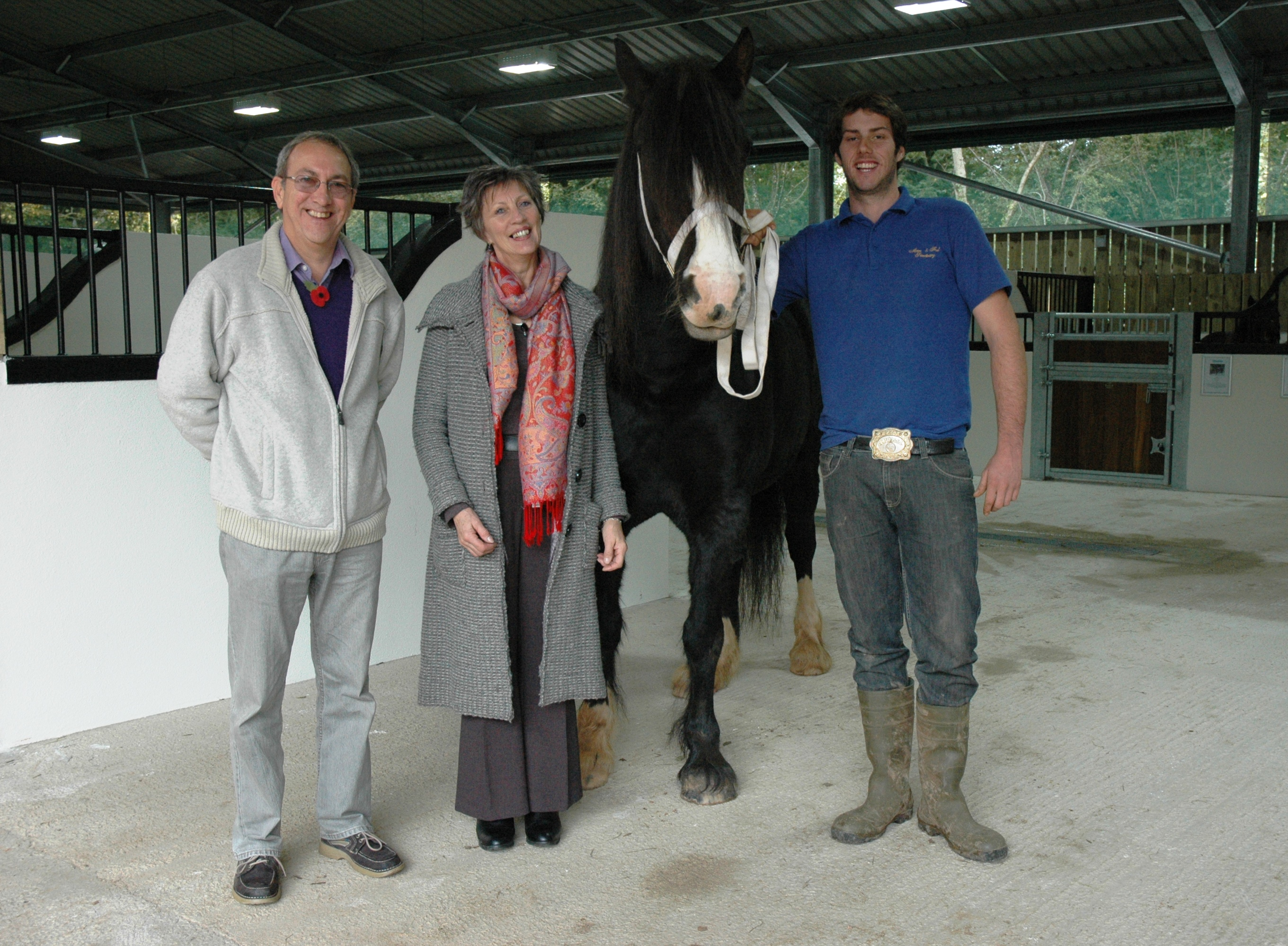 Nigel Giuliana and Jess 2 - Sanctuary Celebrates Opening of New Visitor Centre Barn