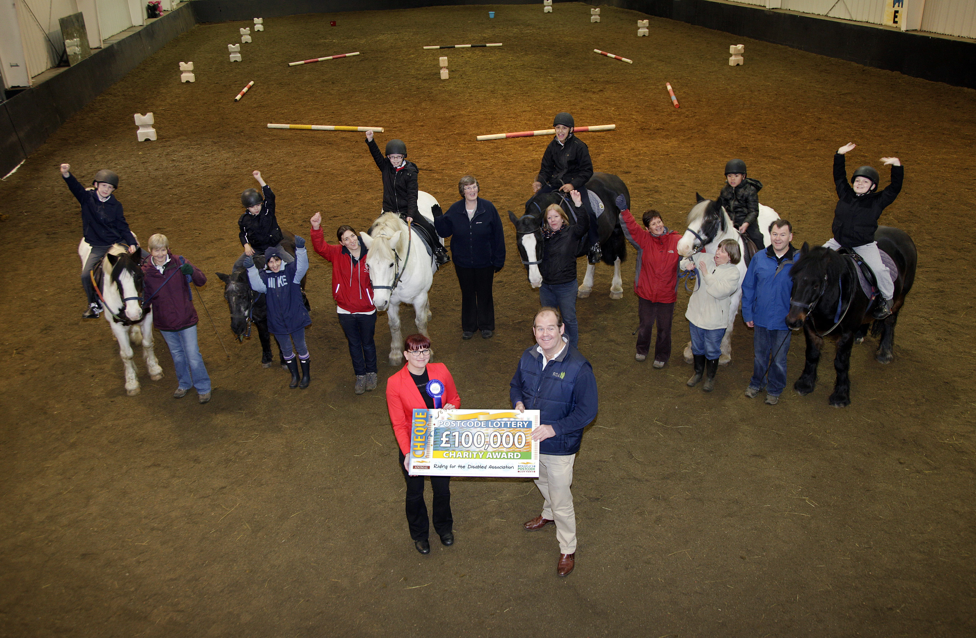RDA Cheque 037 - Riding for the Disabled receive £100,000 from players of People's Postcode Lottery