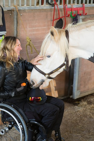 Sarah and Gypsy 2 - Paraplegic former jockey seeks horse for charity challenge