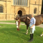 William & Strider met  friend Cilla Cameron who lives close to Southwell Minster