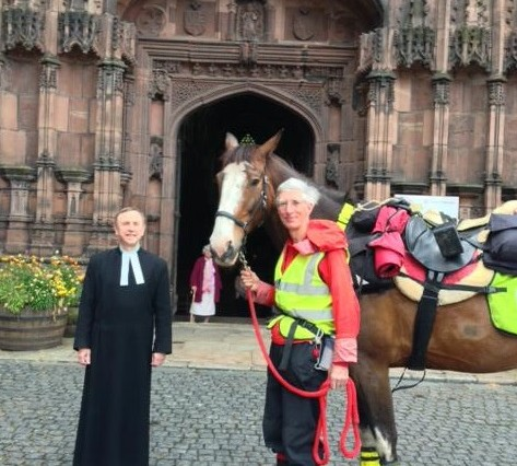 William at Chester Cathedral 473x426 - Successful 2,600 mile Ride Round England included our region!