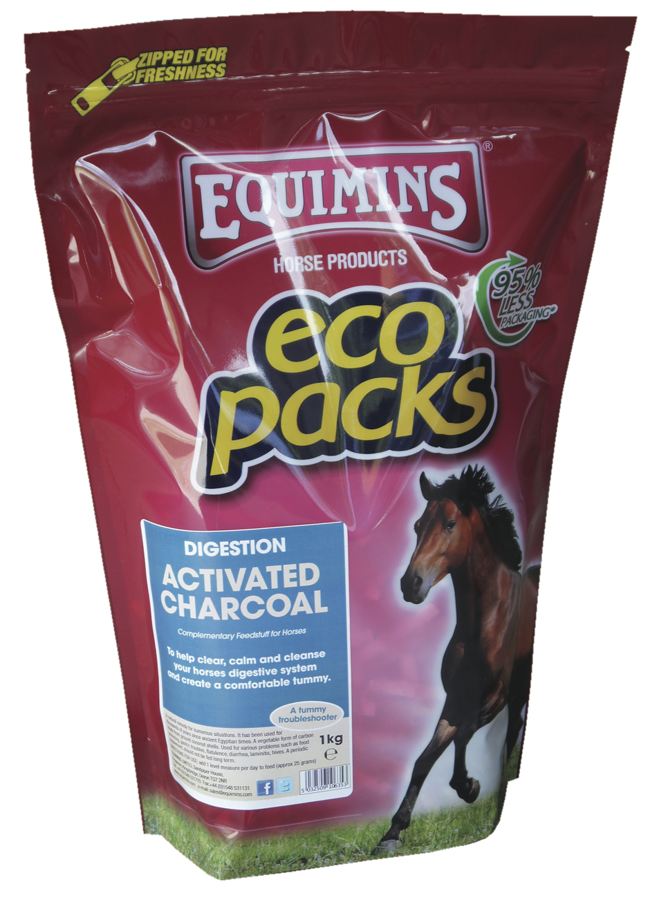 activated charcoal ecopack 1kg copy - Activated Charcoal is now available from Equimins