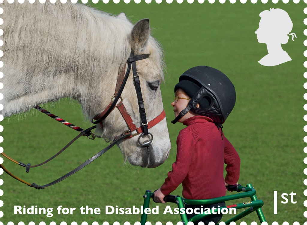 Post Office Riding for the Disabled Assoc Stamp - Royal Mail Special Stamp issue Salutes Working Horses