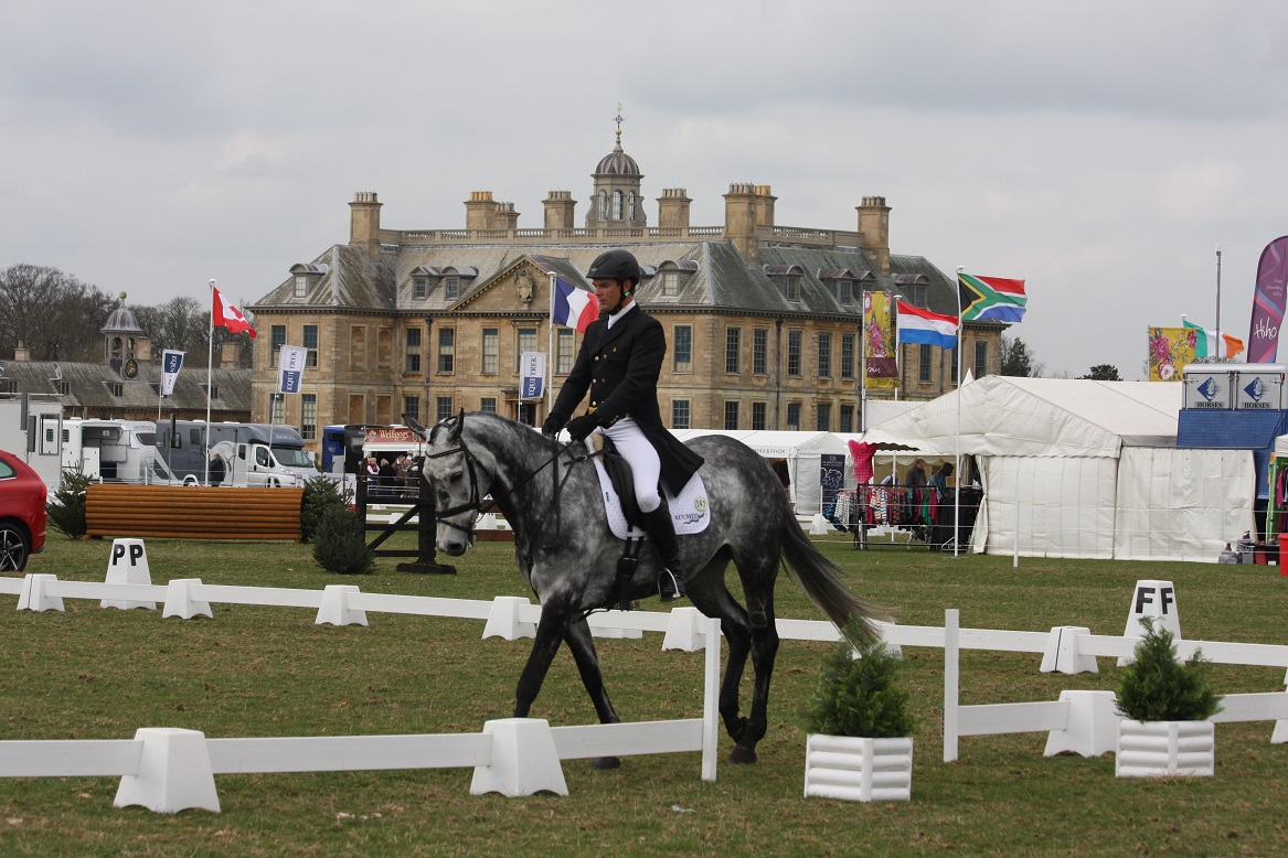 Belton House in the background - Belton Horse Trials get under way