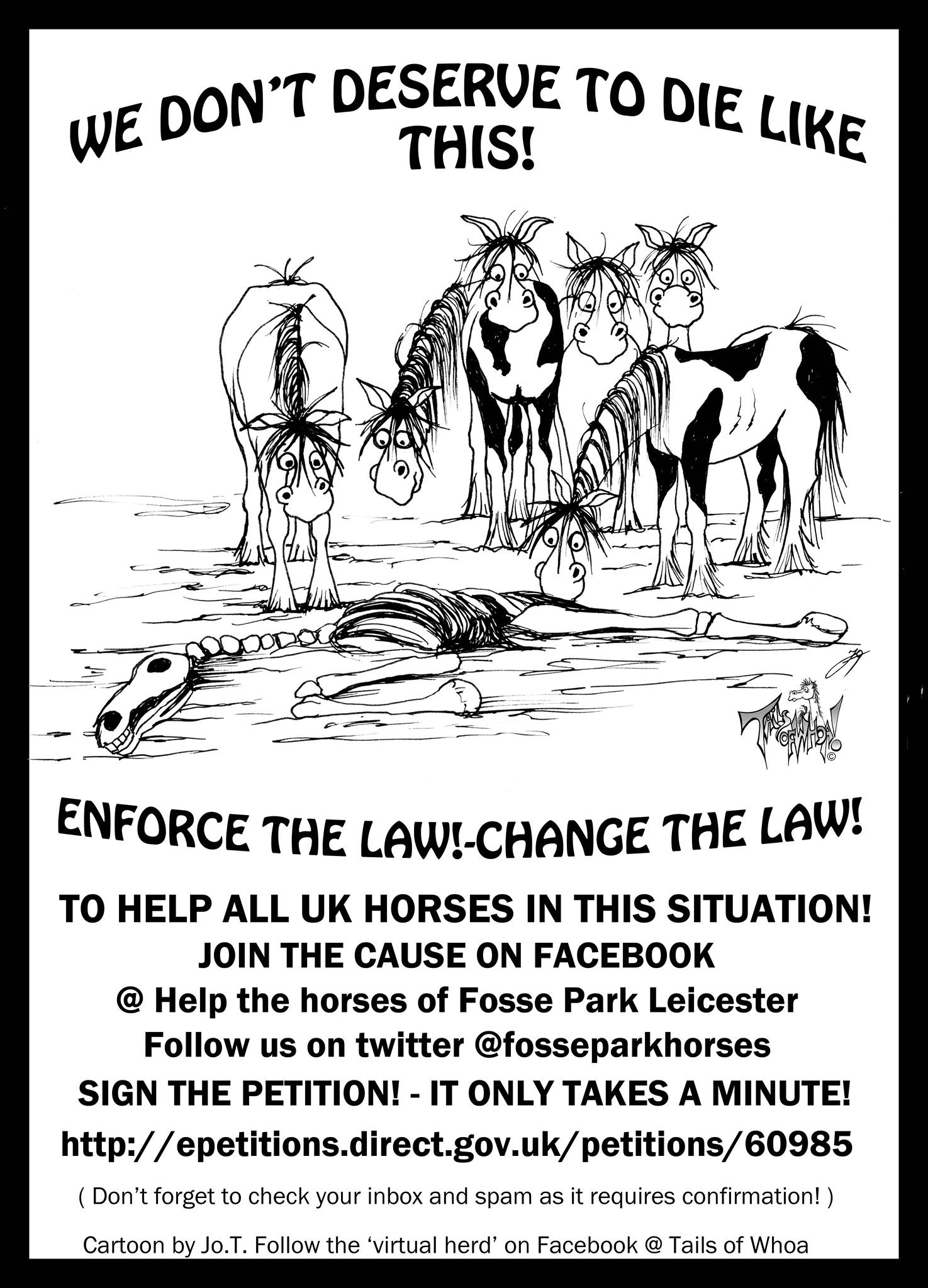 fosseparktwo - 'Hope for Horses' to protest at Westminster on 16th April