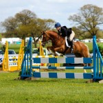 ELiza Yeardley in the showjumping phase at Badminton Grassroots.