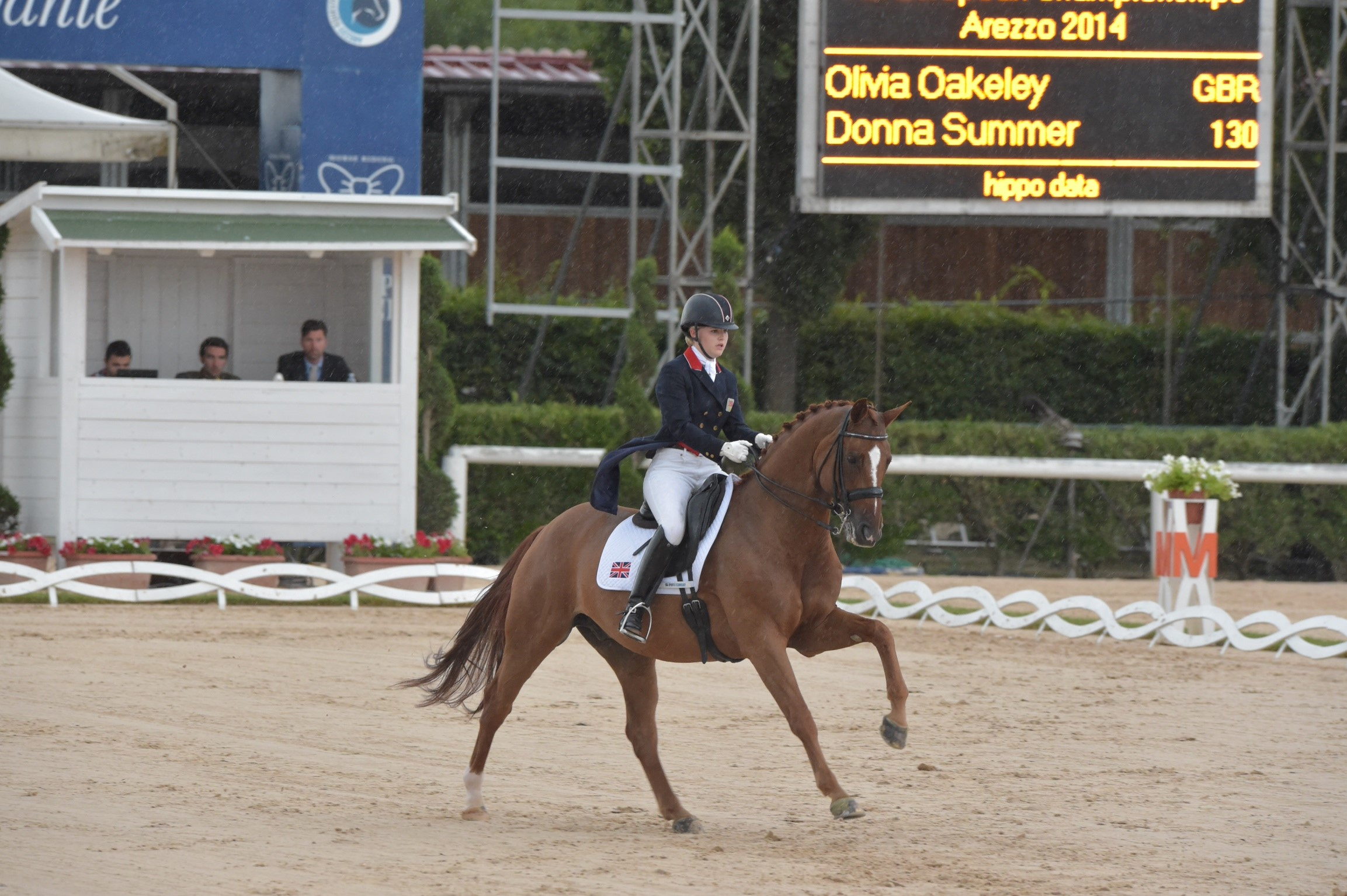 Olivia Oakeley Eur Champs riding Donna Summer Rio 3 - Outstanding Olivia one of Europe 's best