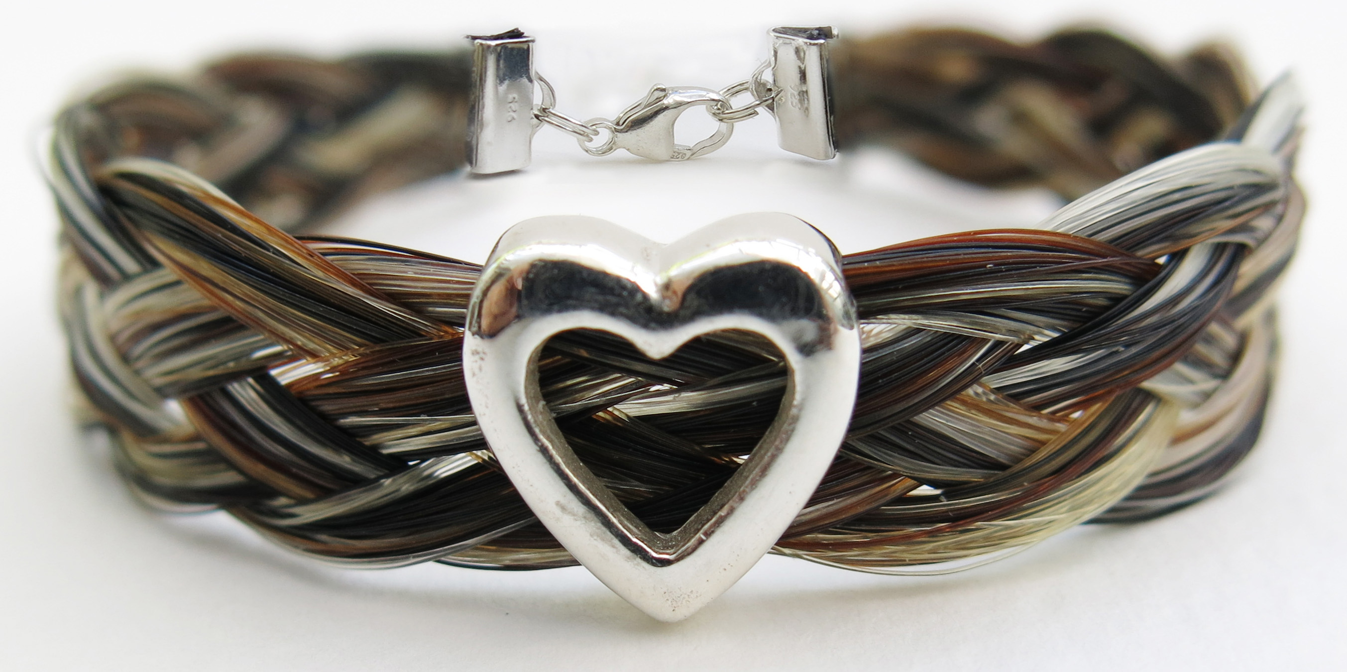 Gemosi Harmony heart horse hair bracelet - A truly special gift, for someone special to you