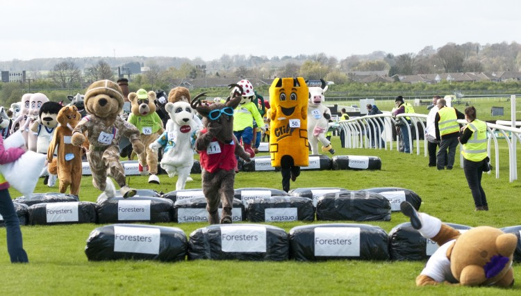 Berry Bear Fall cropped 750x426 - Mascots to establish World Record at Wetherby Next Sunday.